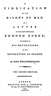 <i>A Vindication of the Rights of Men</i> book by Mary Wollstonecraft
