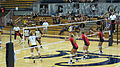 Women's volleyball, Fresno State at Cal 2010-09-11 1.JPG