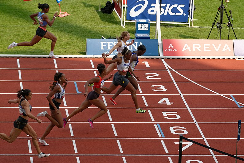 Women 100 m French Athletics Championships 2013 t162400.jpg
