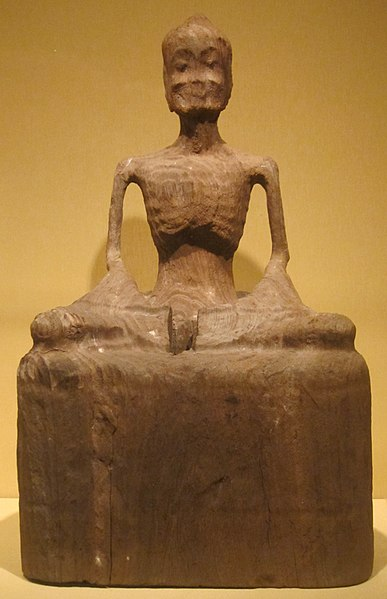 File:Wood sculpture of fasting Buddha from Funan, 3rd-6th century, HAA.JPG
