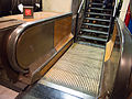 Wooden escalator part - ex-London Underground (7818895628).jpg