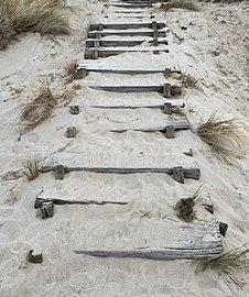 Wooden steps at Nørre Vorupør Strand.jpg