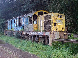 New Zealand DJ class locomotive - DJ 3044 in a decrepit state, stored at Mainline Steam Parnell, Auckland, before it was dismantled for spare parts in May 2011