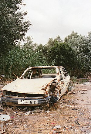 Wrecked car Morocco