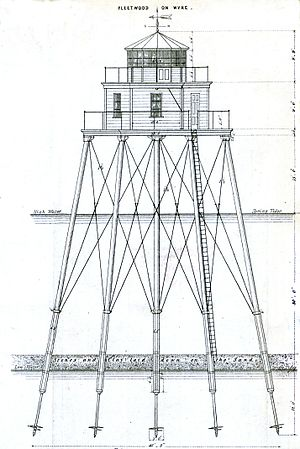 Wyre Light (Fleetwood) - Drawing of Wyre Light