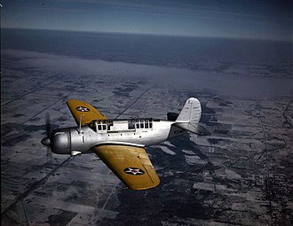 Curtiss SB2C Helldiver - Curtiss XSB2C Helldiver prototype on its maiden flight