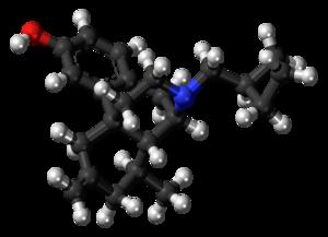 Xorphanol - Image: Xorphanol molecule ball