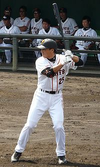 Lee Seung-Yeop i Yomiuri Giants dräkt 2009.