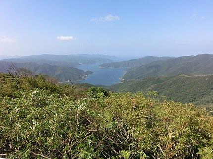 湯湾岳展望台から見た焼内湾