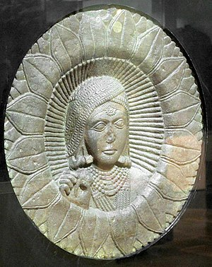 Bindi (decoration) - Relief from Stupa, 2nd century B.C. As decoration only female figures were marked with sacred lotus during this period.