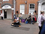 Yidaki Drums in Cowes High Street during Cowes Week 2011.JPG