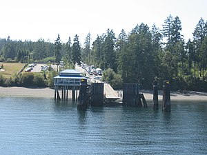 Anderson Island (Washington) - The Anderson Island ferry loading dock at Yoman Road