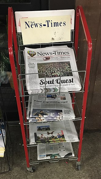 York News-Times - The York News-Times is sold throughout the city