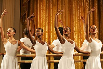 Dance Theatre of Harlem - Young dancers from the Dance Theatre of Harlem perform during a dinner held at the White House on February 6, 2006. President George W. Bush and Laura Bush are in attendance.