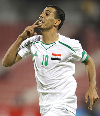 Younis Mahmoud - Younis Mahmoud after scoring a goal for Iraq in 2011.