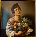 Youth with a basket of fruit, by Caravaggio, c. 1593-1595, oil on canvas - Galleria Borghese - Rome, Italy - DSC04895.jpg