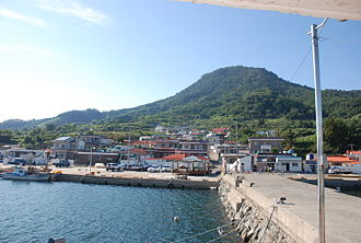 Geoje - View overlooking Geoje city and harbor