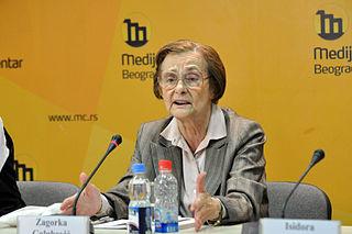 Zagorka Golubović Yugoslav/Serbian sociologist