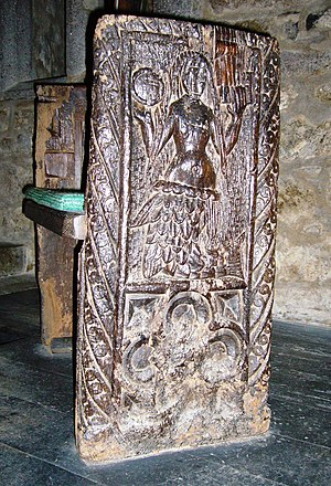 Cornish mythology - 16th century Zennor mermaid bench end