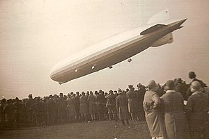 Luftschiffbau Zeppelin - The LZ 127 Graf Zeppelin departing for DELAG, the world's first airline