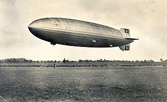 Deutsche Zeppelin Reederei - Demonstration flight of LZ 129 before it received the name Hindenburg, 1936