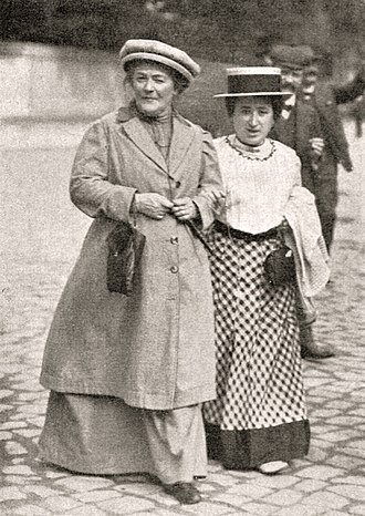 Feminist movements and ideologies - Clara Zetkin and Rosa Luxemburg, 1910.