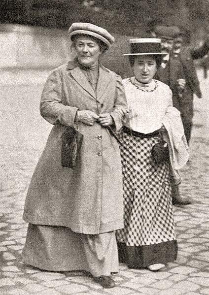 Клара Цеткин и Роза Люксембург, 1910 год