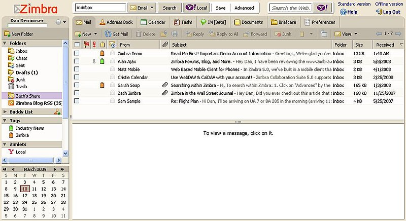 File:Zimbra Hosted Demo Interface.JPG
