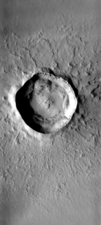 Zunil (crater) Crater on Mars