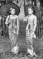 Zwei Birmaninnen höheren Stands im Tamein. (Phot. M. Ferrars.).jpg