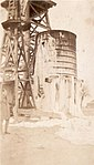 """'Sunny' Texas"" Photograph of water-tower covered in ice. (3569883981).jpg"
