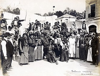 "Bedouin - Image: ""Bedouin Wedding Procession"" in the Jerusalem section of the Pike at the 1904 World's Fair"