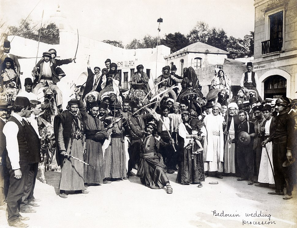 """""""Bedouin Wedding Procession"""" in the Jerusalem section of the Pike at the 1904 World's Fair"""
