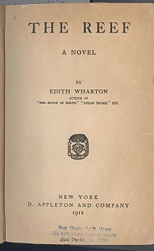 """The Reef"" Edith Wharton - first edition title page.jpg"