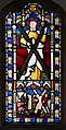 'Church of St Andrew' Greensted, Ongar, Essex England - stained chancel window to Saint Andrew.JPG