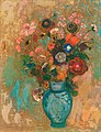 'Fleurs dans un Vase bleu' by Odilon Redon, c 1903-5.jpg