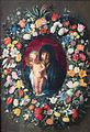 'Garland of Flowers with Virgin and Child' by Jacob Jordaens and Andries Daniels, The Hermitage.JPG