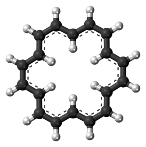 Cyclooctadecanonaene - Image: (18)Annulene 3D ball
