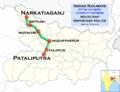 (Pataliputra - Narkatiaganj) Intercity Express route map.png