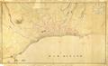 (Reinaldo Oudinot) Planta da cidade do Funchal Capital da Ilha da Madeira em que se representam as ruinas cauzadas pelo Alluvião de 9 de Outubro de 1803.png