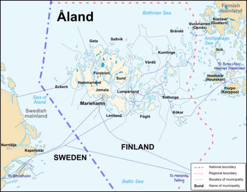 Åland Travel Guide At Wikivoyage - Aland islands political map