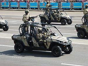 Can-Am motorcycles - Can-Am buggy in armed forces of Kazakhstan