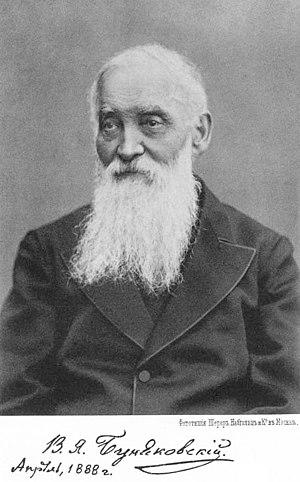 Viktor Bunyakovsky - Viktor Bunyakovsky in 1888