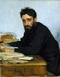 REPIN Ilya Portrait of writer Vsevolod Mikhailovich Garshin 1884