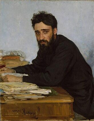 Vsevolod Garshin - Portrait of Vsevolod Garshin by Ilya Repin