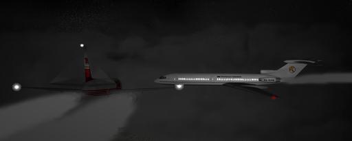 Компьютерная реконструкция столкновения самолётов над Боденским озером