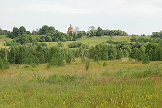 Mosalsky District - Church of the Epiphany, Village Lensk, Mosalsky District