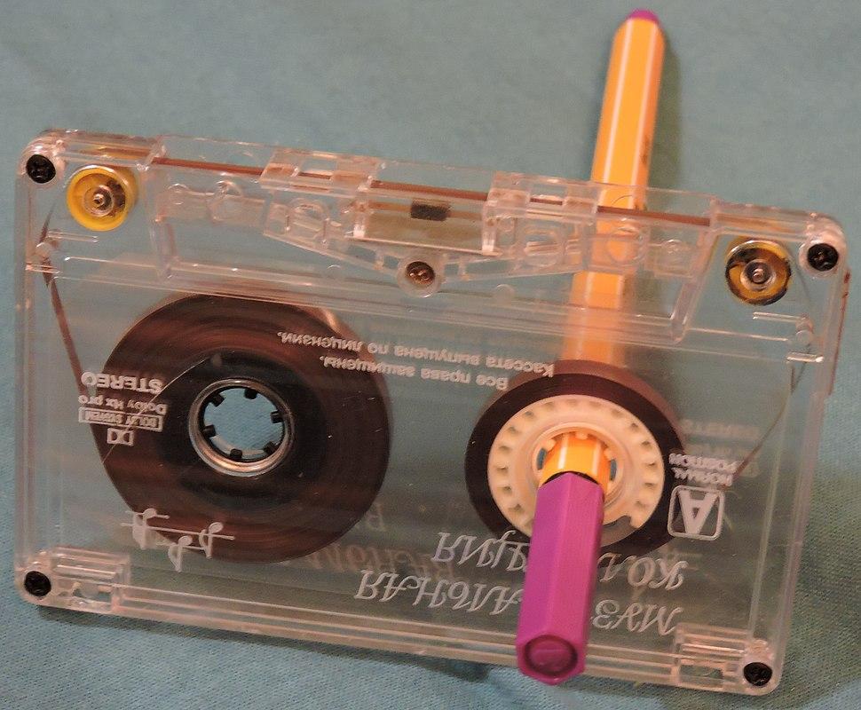 Перемотка кассеты ручкой
