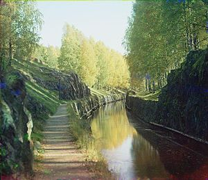 Saimaa Canal - Saimaa Canal in 1903, photo by Prokudin-Gorskii