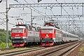 ЧС200-005 и ЧС7-083, Россия, Московская область, станция Подсолнечная (Trainpix 199232).jpg